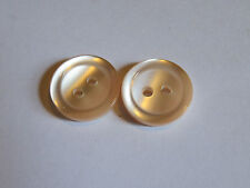 2 15mm Ballet Shoe Pink Pearlescent 2 Hole Vintage Buttons 1960-1980