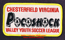 PATCH Badge  POCOSHOCK  Valley Youth SOCCER League Chesterfield VA Football 4.5""