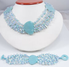 Sajen Handmade Chalcedony Amazonite Beads Necklace Bracelet Set Marianna Richard
