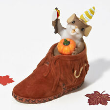 Charming Tails A Brave Little Sole Autumn Fall Mouse Figure 4023690 New Pumpkin