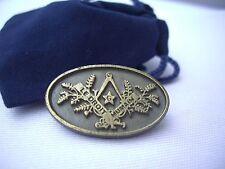 Masonic International Co Freemasonry Le Droit Humain Lapel Pin Plus Gift Pouch