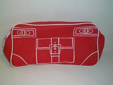 Clinique Hand Travel Makeup Bag Cosmetic Purse RED New