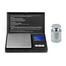 Pocket Scales Digital Portable Electronic + Calibration Weight Jewellery 200g