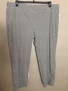$85 Alfani Womens Plus Size 24W Delicate Dots Tummy Control Ankle Length Pants