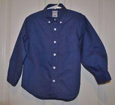Old Navy Boys Blue Micro Dot Button Up Dress Shirt Size XS