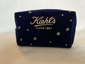 Kiehl's cosmetic bag- blue velvet
