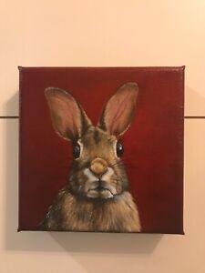 Rabbit oil painting....