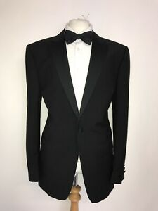 CHESTER BARRIE Savile Row - WOOL MOHAIR DINNER SUIT - 46 Reg - W40 L29 WORN ONCE