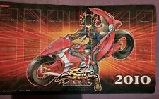 More details for yugioh playmat hobby exclusive 2010 yusei game mat used (creased, see pictures)