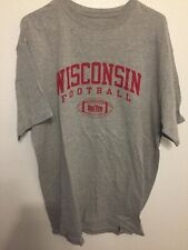 Wisconsin Football Badgers Tshirt XL Gray Free Shipping Big Ten C