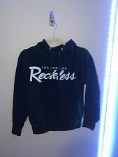 young & reckless mens big R script hoodie