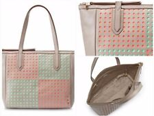 FOSSIL SYDNEY PERFORATED LEATHER  Shopper Shoulder Bag New In