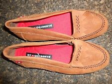 Oliberte brown nubuck Ralini flats moccasin shoes display 7M New no box save!
