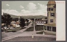 Vintage Litho Victorian Jefferson New Hampshire Birds Eye View Of Town Postcard