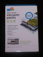 "Vacuum Space Saving Storage Bag 3 Pack- Large 21 1/4"" x 33 1/2"" NEW"