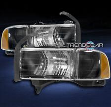 1999-2001 DODGE RAM 1500 SPORT PICKUP HEADLIGHT W/CORNER TURN SIGNAL LAMP BLACK