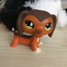 LITTLEST PET SHOP  Savannah Savvy Dachshund Dog green eyes LPS Figure #675
