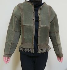 Sexy Gray Sueded leather Woman's Jacket small