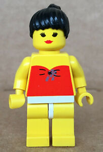 LEGO ®-Minifigur Ponytail Pferdeschwanz Town City Paradisa 6401 6409 - par009a
