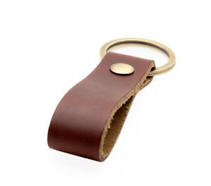 Schlüsselanhänger Rindsleder Geschenk für Lieblingsmenschen mit Schlüsselring