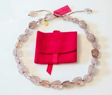 Lola Rose *RRP £68.95* Eva SMOKE/TAUPE Rock Crystal Semi Precious Bead Necklace