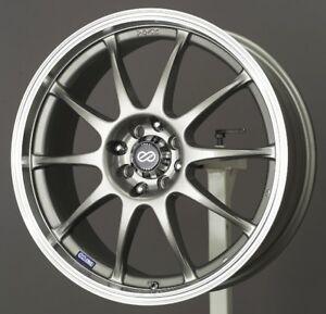17x7 Enkei J10 5X108/115 +38 Silver Rims Fits 5 Lug Ford Focus Taurus Sho