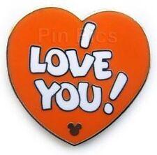Disney Pin: WDW 2011 Hidden Mickey Orange Bird Collection  I Love You Completer