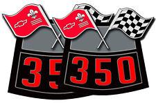 Chevy 350 Flags Air Cleaner Cover Decal Sticker Corvette Chevelle Nova Camaro X2