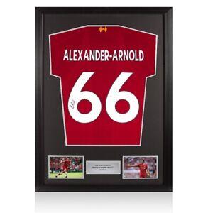 Framed Trent Alexander-Arnold Signed Liverpool Shirt 2019/2020 - Fan Style Numbe