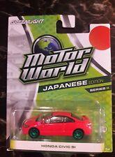 Greenlight Motor World Series 8 Red Civic SI CHASE Green Machine ULTRA RARE