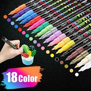 Acrylic Paint Pens for Rock Painting Kit, Glass, Craft, Ceramic