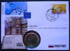 Slowenien 2010 Numisbrief UNESCO Welthauptstadt Buch Ljubljana 3 Euro 2010