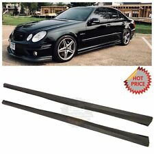 Mercedes Benz W211 E55 E63 Amg Carbon Fiber Side Skirt Extension *Us Seller* (Fits: Mercedes-Benz)