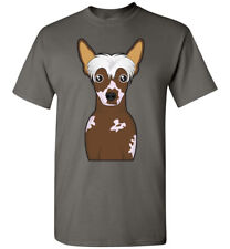 Chinese Crested Dog Cartoon T-Shirt Tee - Men Women Youth Kids Tank Long Sleeve