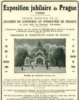 Publicité ancienne exposition jubilaire de Prague 1908 issue magazine