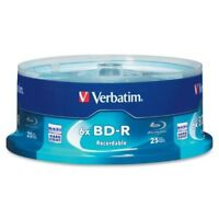 Verbatim - Blu-ray Recordable Media - BD-R - 6x - 25 GB - 25 Pack Spindle