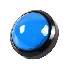 1x Blue 4 Inch 100mm Big Dome 12V LED Illuminated Push Buttons Switch Kit Jamma