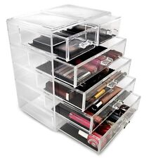 Clear Acrylic Cosmetics Makeup Jewelry Storage Organizer Drawer Beauty Container