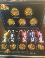 Power Rangers Legacy MMPR Morphing Coins unopened original five Rangers