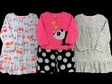 Carter's Toddler Girls Size 2T Long Sleeve Fleece Gowns Pj Pajamas Mixed Lot Set