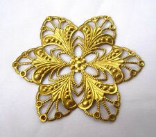 Large Flower Filigree 60mm Brass Findings for Jewelry Fashion Design bf114(6pcs)