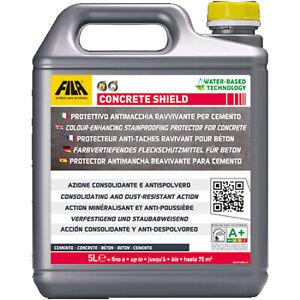 Fila Concrete Shield 5 Lt Protettivo Antimacchia Ravvivante Per Cemento