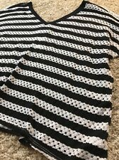 Womens Red 23 Black & White striped Light knit top Sz XS NWT $88 Anthropologie