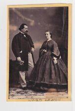 President Lincoln Bodyguard Ward Lamon & Woman Rare1860s Civil War Cdv Photo
