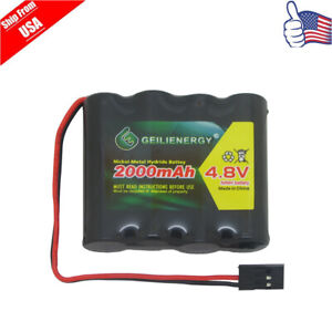 GeiLienergy 1-PACK 4.8V 2000mAh Flat Receiver RX NiMH Battery Pack Ship From USA
