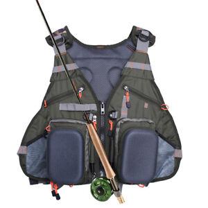 Fly Fishing Backpack Multi-pocket Vest Pack Chest Mesh Bag Adjustable Size