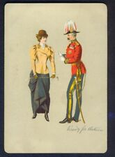 Vintage Military Postcard. Horsewoman, Riding Crop, 'Ready for Action'