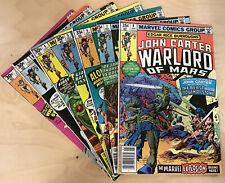 John Carter, Warlord of Mars #1-9 (1977) Comic Lot