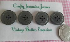 4 Matching Shimmering Grey Striped Vintage 2 hole Coat Cardigan Buttons 24mm