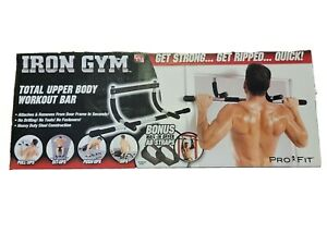 Iron Gym Total Upper Body Home Workout Bar Indoor Pull Up Bar Abdominal Back